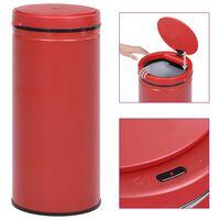 vidaXL Automatinė šiukšliadėžė su jutikliu, raudona, plienas, 80l