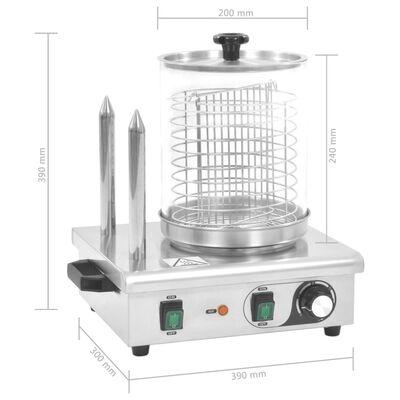 vidaXL Dešrainių šildytuvas su 2 strypais, nerūdijantis plienas, 500W