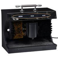vidaXL Elektrinė batų poliravimo mašina, juoda, visiškai automatinė
