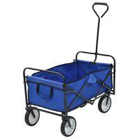 vidaXL Sulankstomas rankinis vežimėlis, mėlynas, plienas