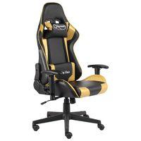vidaXL Pasukama žaidimų kėdė, auksinės spalvos, PVC