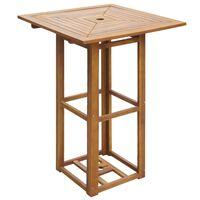 vidaXL Baro stalas, 75x75x110cm, akacijos medienos masyvas