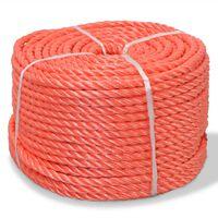 vidaXL Susukta virvė, oranžinė, 500m, polipropilenas, 12mm