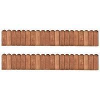 vidaXL Border Rolls 2 pcs 120 cm Impregnated Pinewood (2x49106)