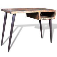 Rašomojo stalas, perdirbta mediena su geležinėmis kojelėmis