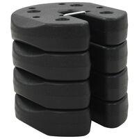 vidaXL Svoriai pavėsinei, 4 vnt., juodi, 220x30 mm, betonas