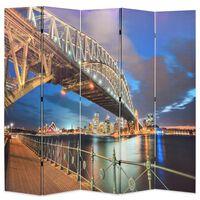 vidaXL Sulankst. kambario pertvara, 200x170cm, Sidnėjaus uosto tiltas