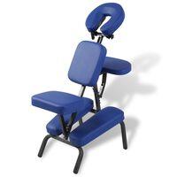 vidaXL Sulankst. ir nešiojamas masažinis krėslas, mėlynos sp.