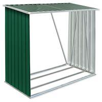 vidaXL Sodo malkinė, žalia, 163x83x154cm, galvanizuotas plienas
