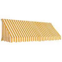vidaXL Bistro markizė, oranžinės ir baltos spalvos, 300x120cm