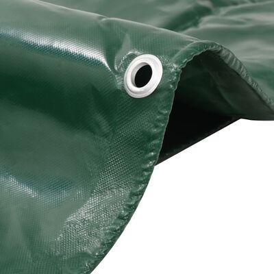 vidaXL Tentas, žalios spalvos, 650g/m², 6x8m