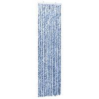 vidaXL Užuolaida nuo vabzdžių, balta ir sidabrinė, 56x185 cm, šenilis