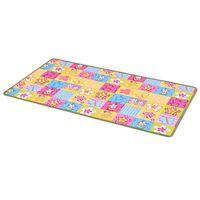 vidaXL Žaidimų kilimėlis, kilp. pūkas, 133x180cm, drugelių raštas