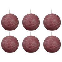 Bolsius Žvakės, 6vnt., sendintos rožinės spalvos, 80mm, rutulio formos