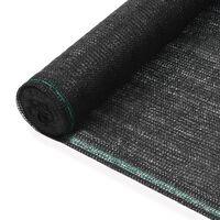 vidaXL Uždanga teniso kortams, juoda, 1,4x50m, HDPE