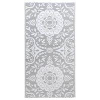 vidaXL Lauko kilimas, šviesiai pilkos spalvos, 80x150cm, PP