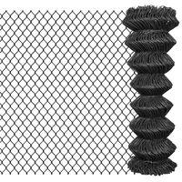 vidaXL Tinklinė tvora, pilka, 15x1,25m, plienas