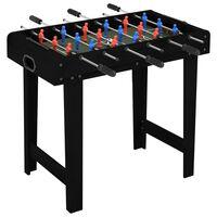 vidaXL Mažas stalo futbolo stalas, juodos spalvos, 69x37x62cm