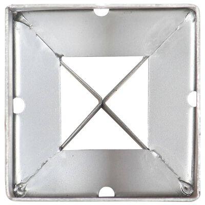 vidaXL Smeigiami kuoliukai, 6vnt., sidabriniai, 9x9x75cm, plienas