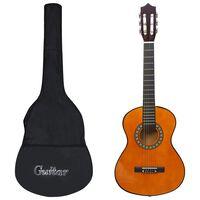 """vidaXL Klasikinės gitaros rinkinys vaikams, 8 dalių, 1/2 34"""""""