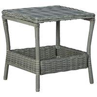 vidaXL Sodo staliukas, šviesiai pilkas, 45x45x46,5cm, poliratanas