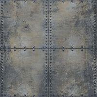 Urban Friends & Coffee Tapetas, pilkas ir juodas, betono blokai