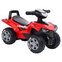 vidaXL Vaikiškas paspiriamas automobilis Good Year, raudonos spalvos