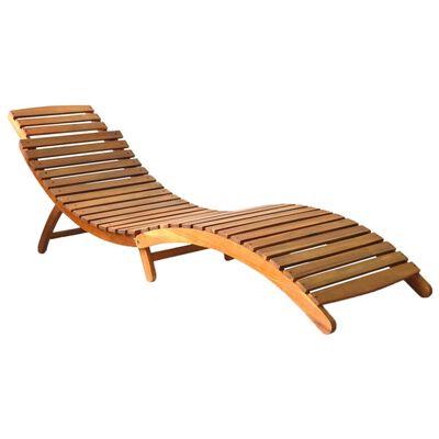 vidaXL Saulės gultas, rudos spalvos, akacijos medienos masyvas