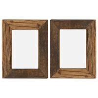 vidaXL Nuotraukų rėmeliai, 2vnt., 25x30cm, medienos masyvas ir stiklas