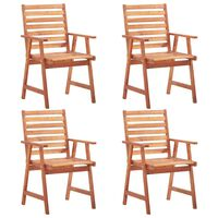 vidaXL Lauko valgomojo kėdės, 4vnt., akacijos medienos masyvas