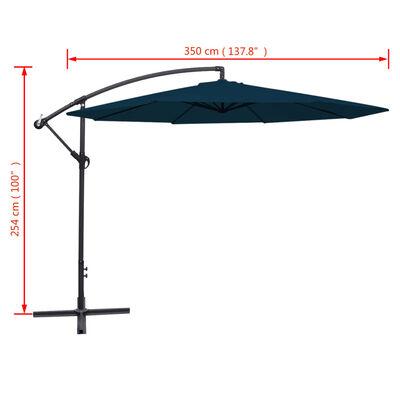 vidaXL Gembės formos lauko skėtis, 3,5 m, mėlynas