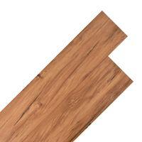 vidaXL Grindų plokštės, natūralios guobos spalvos, PVC, 4,46m², 3mm