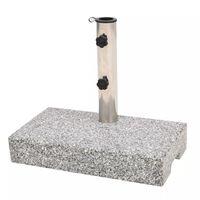 vidaXL Skėčio stovas, granitas, kvadratinis, 25 kg