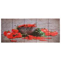 vidaXL Paveikslas ant drobės, įvairių spalvų, 150x60cm, paprika