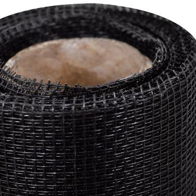 vidaXL Tinklelis, juodos sp., stiklo pluoštas, 100x500cm