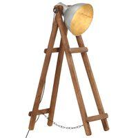vidaXL Toršeras, sidabrinės spalvos, mango medienos masyvas, E27