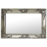 vidaXL Sieninis veidrodis, sidabrinis, 60x40cm, barokinis stilius