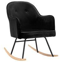 VidaXL Supama kėdė, juodos spalvos, aksomas