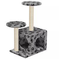 vidaXL Draskyklė katėms su stovais iš sizalio, 60cm, pilkos sp. pėdut.