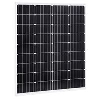 vidaXL Saulės energijos plokštė, aliuminis ir apsauginis stiklas, 80W