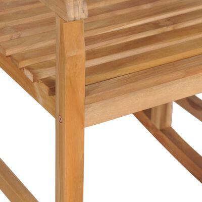 vidaXL Supama kėdė su kremine pagalvėle, tikmedžio masyvas
