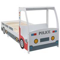 vidaXL Vaikiška lova policininko mašina su stalu, 90x200 cm