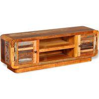 vidaXL TV staliukas, perdirbtos medienos masyvas, 120x30x40 cm