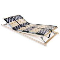 vidaXL Grotelės lovai su 42 lentjuostėmis, 7 zonos, 90x200cm