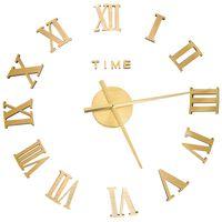 vidaXL Sieninis laikrodis, auksinis, 100cm, modernus, 3D, XXL