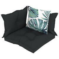 vidaXL Pagalvėlės sofai iš palečių, 4vnt., antracito spalvos, audinys