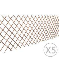 vidaXL Gluosnio treliažo tvora, 5vnt., 180x90cm