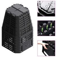 vidaXL Sodo komposto dėžė, juoda, 93,3x93,3x146cm, 1000 l