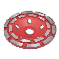 Deimantinis Išgaubtas Šlifavimo Diskas, Dvieilis, 180 mm
