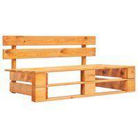 vidaXL Sodo suoliukas iš palečių, medaus rudos spalvos, mediena